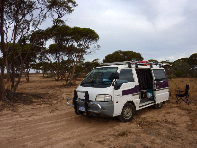 Camp sur la Nullarbor